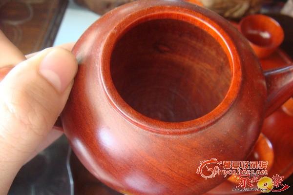 """越南红木工艺品""""花梨,酸枝""""茶壶8件套"""