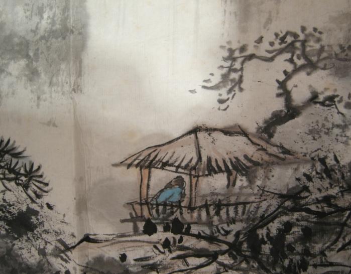 他将写意画与工笔画的技法自然地结合起来,工细中见笔意.