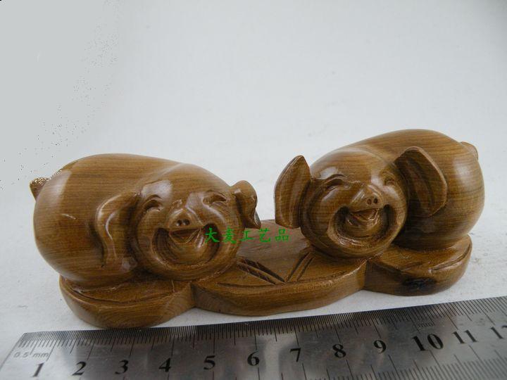越南特产*红木工艺品*家具---木艺对猪
