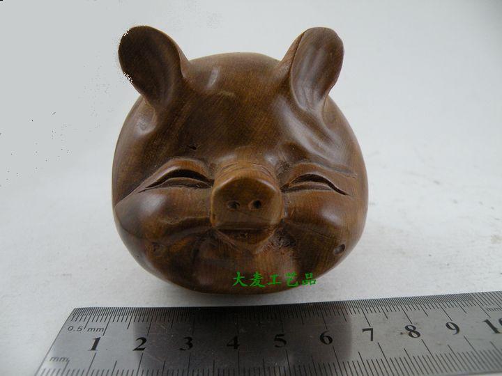 越南特产*红木工艺品*家具---木艺猪头