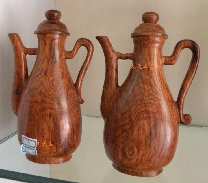 越南*特产*工艺品---黄花梨木雕酒壶