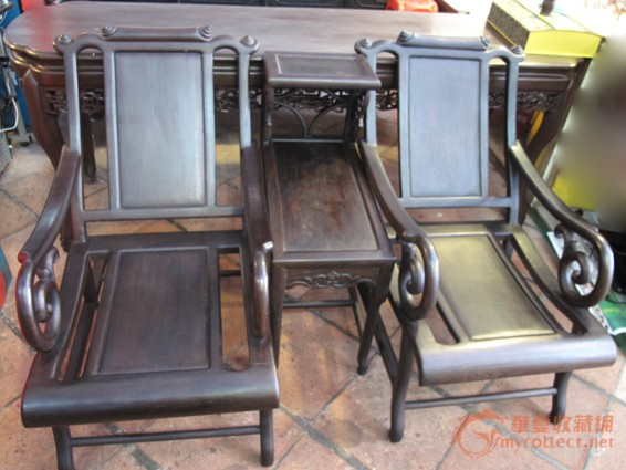 清 酸枝三件套躺椅(二椅一几) #图1