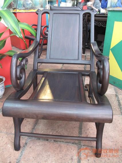 清 酸枝三件套躺椅(二椅一几) #图2