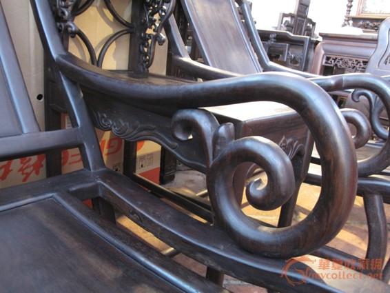 清 酸枝三件套躺椅(二椅一几) #图3