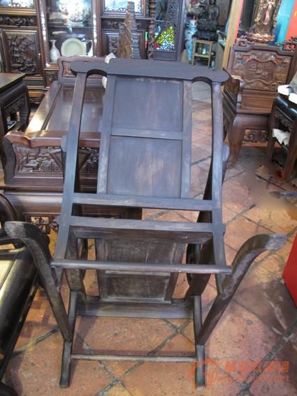 清 酸枝三件套躺椅(二椅一几) #图4