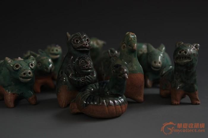 瓷器 十二生肖动物陶瓷