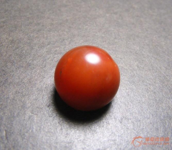 老深红玛瑙大圆珠残件(看包浆看质理)