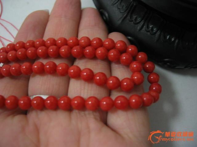 【冰清玉缘】纯天然红珊瑚圆珠项链