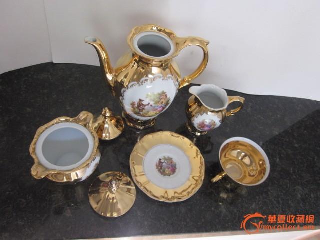 欧洲古董金彩瓷器精品图片