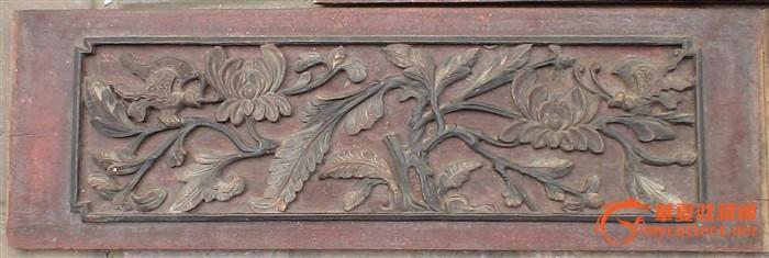 樟木雕床上花板:芝阑入梦