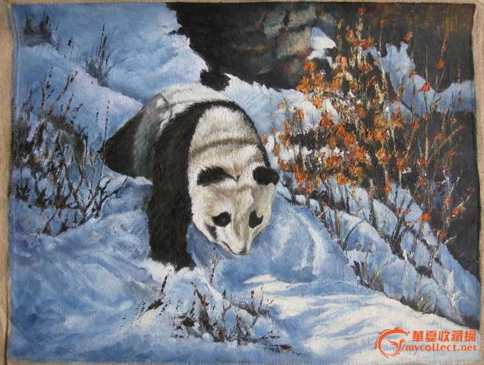 熊猫-油画