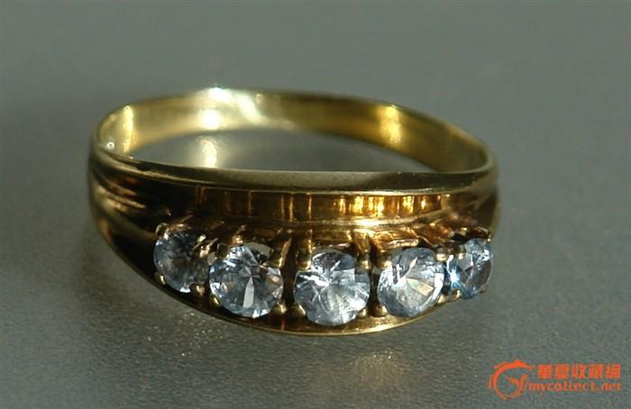 欧洲14K金镶嵌尖晶石古董戒指 E7