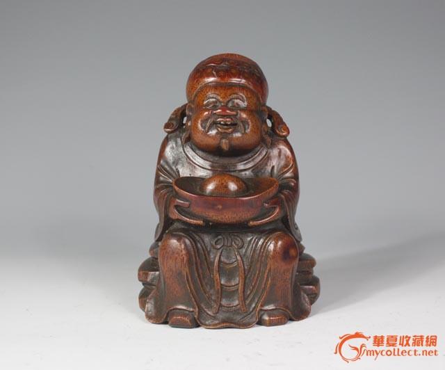 清代 竹根圆雕财神像【友尚斋】