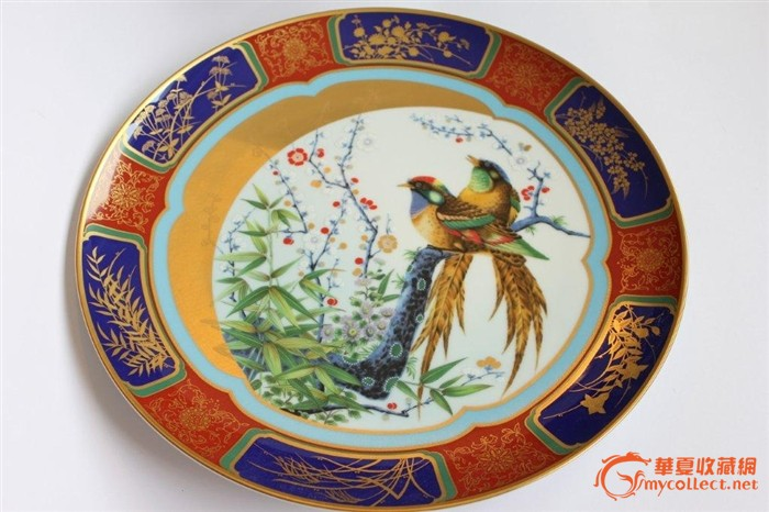 日本3000限量发行 特大40cm手绘金彩瓷赏盘2 亚洲回流