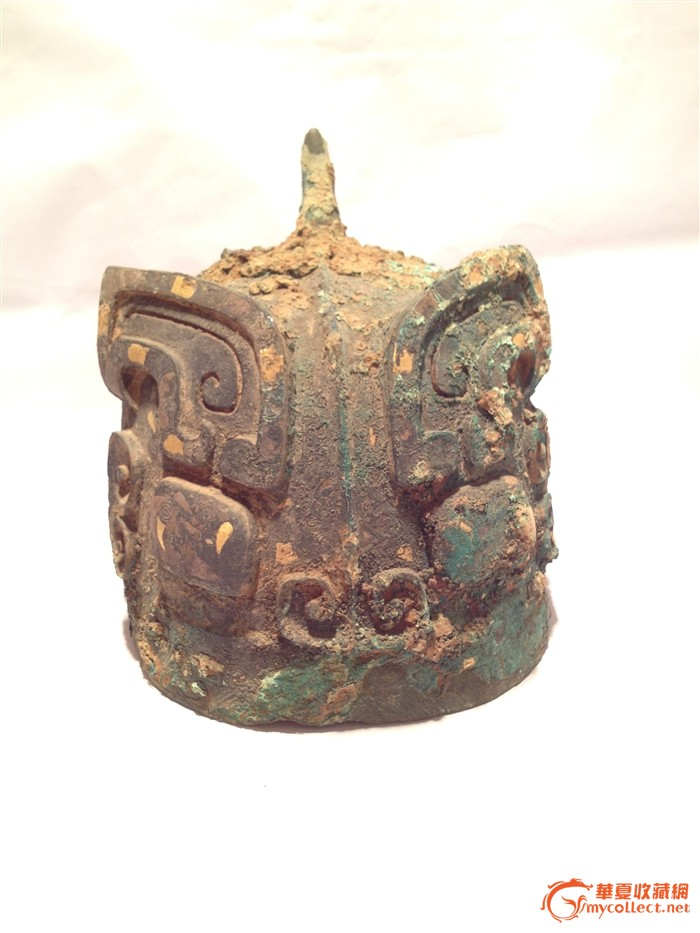 青铜鎏金将军头盔