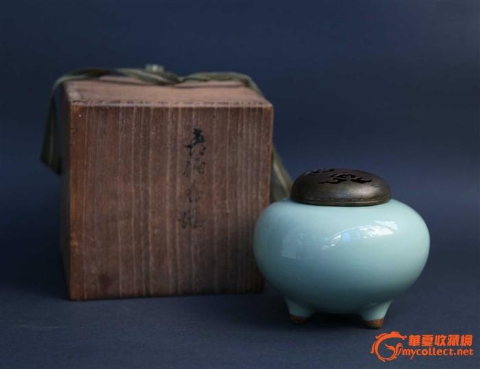 清代天青釉香炉 清代天青釉香炉价格 清代天青釉香炉图片 明清 cang.