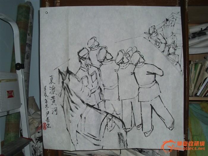 保护母亲河宣传手绘画