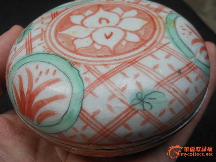 *古代女子装一些胭脂水粉的粉彩盒子,共有一对 备 注*.