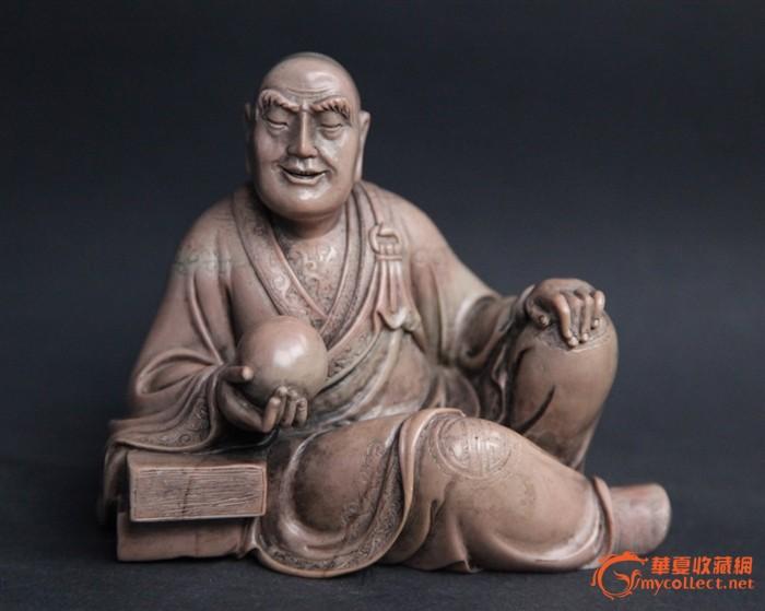 清代精品寿山石罗汉像图1
