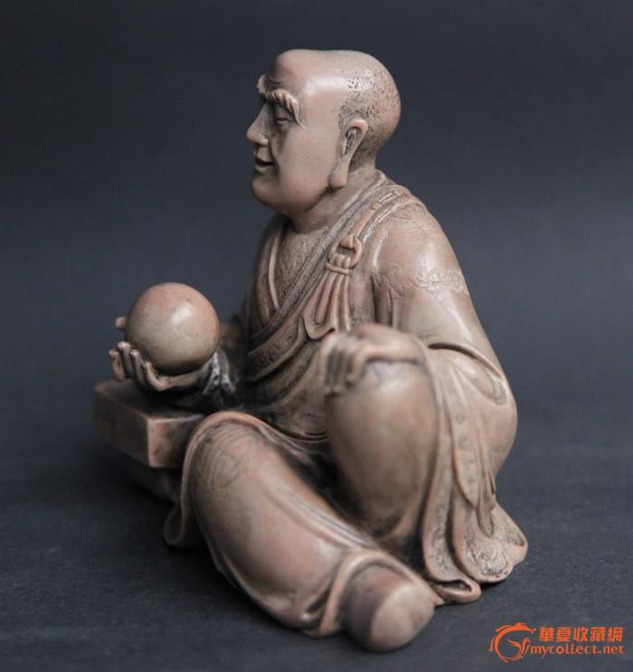 清代精品寿山石罗汉像图3