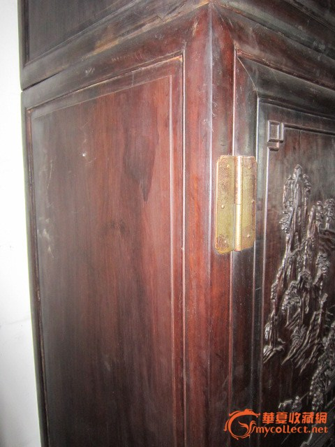 紫檀木雕大柜一对#图6