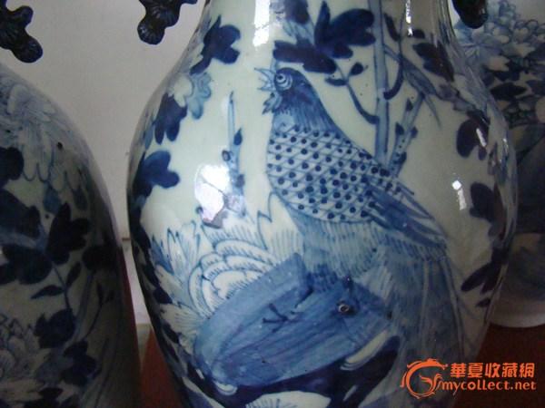 雉鸡牡丹嫁妆瓶-图3