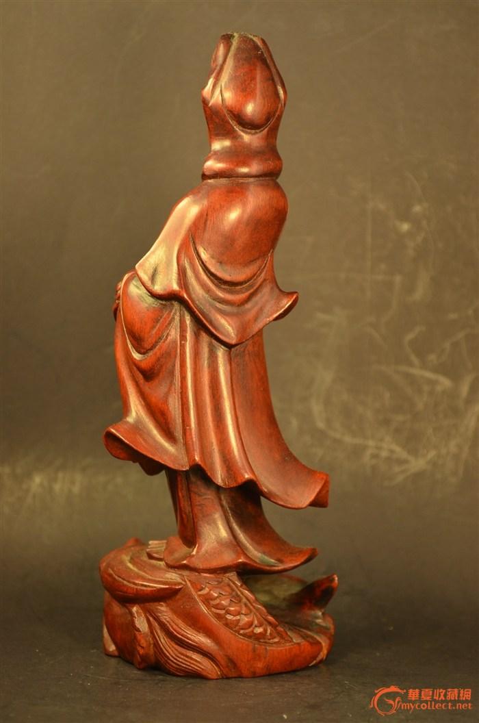 黄杨木雕观音立像