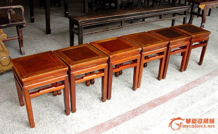红木方凳一套6条