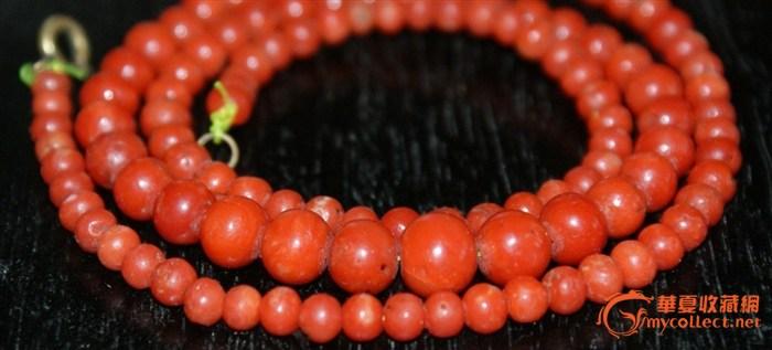 3866欧洲老红珊瑚项链