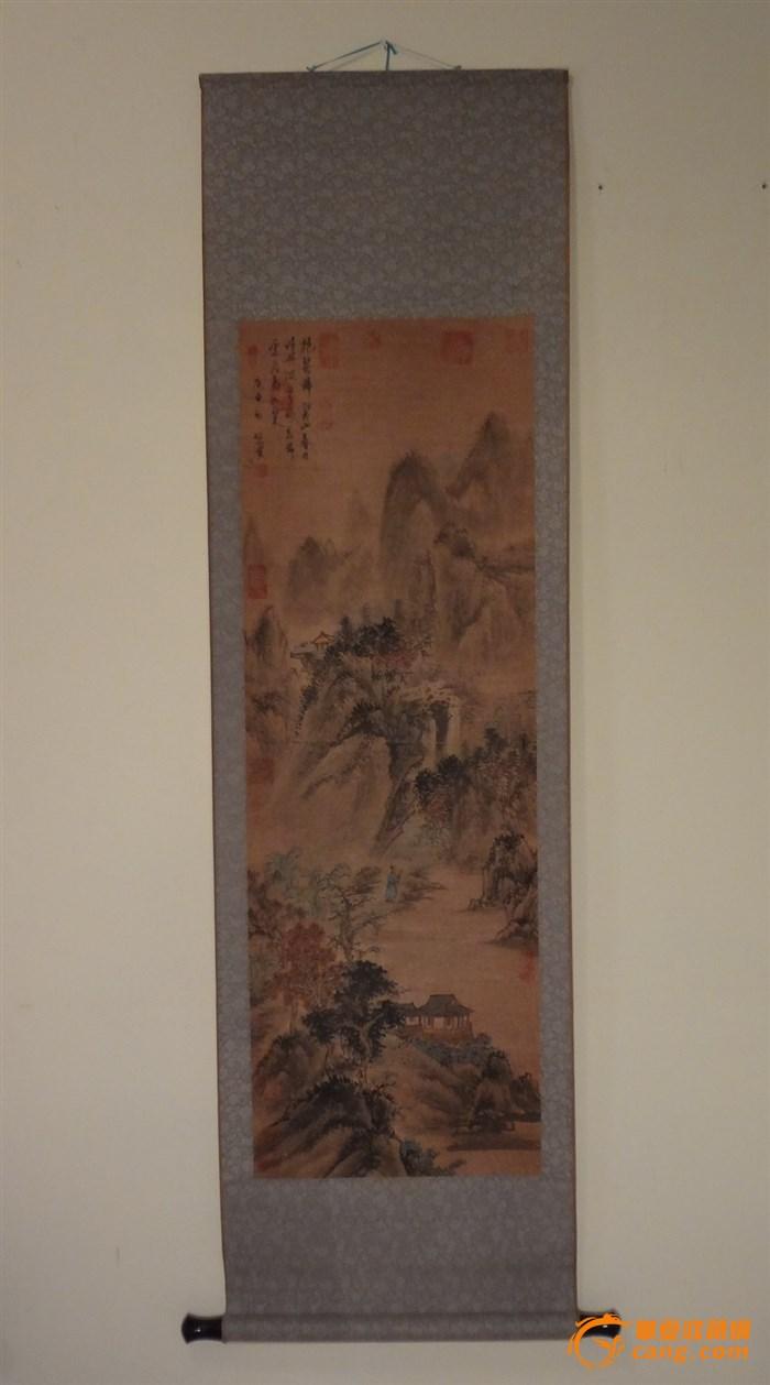 山水手绘卷轴画—10