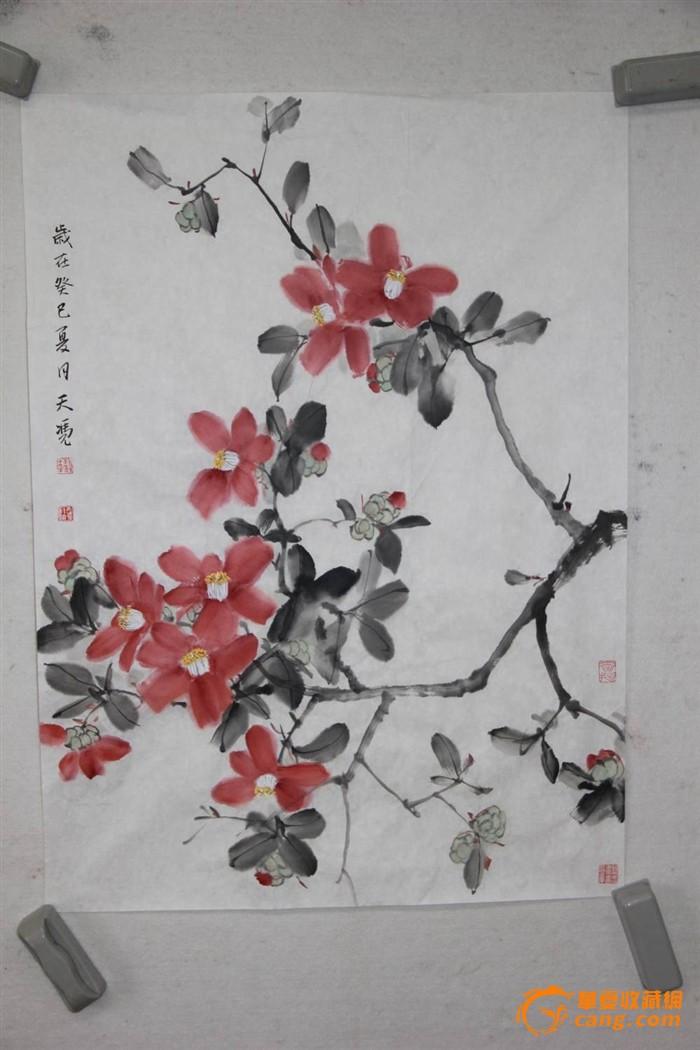 茶花中国画步骤