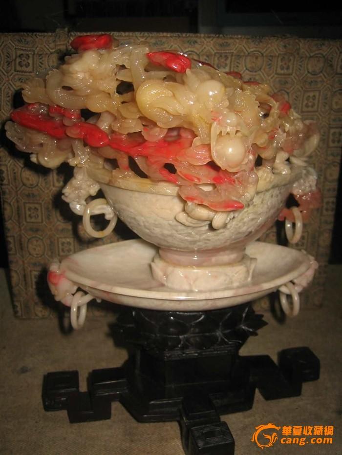 镇店之宝  巴林雞血雕件-----九龍戏珠-图1