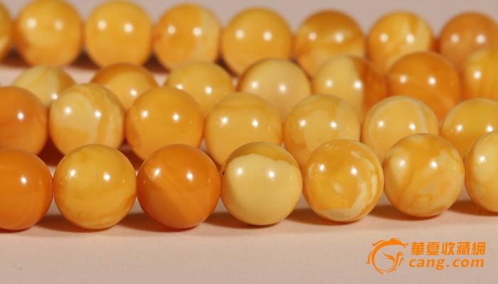 天然老蜜蜡圆珠项链 9.5mm