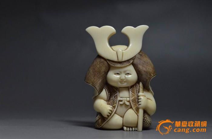 精美雕刻可爱的日本小武士