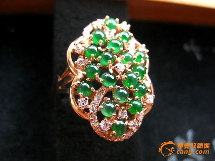 925银镶嵌冰种满艳绿翡翠戒指
