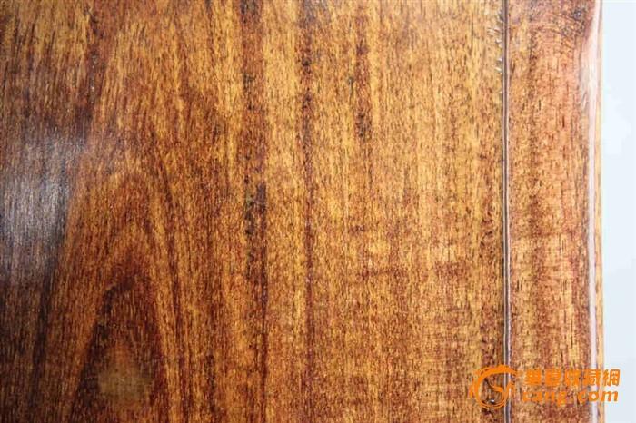 清代美纹老金丝楠木盒装如意纹红端砚