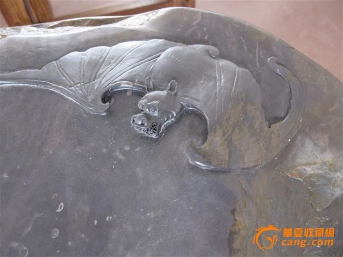 茶盘木雕蝙蝠图