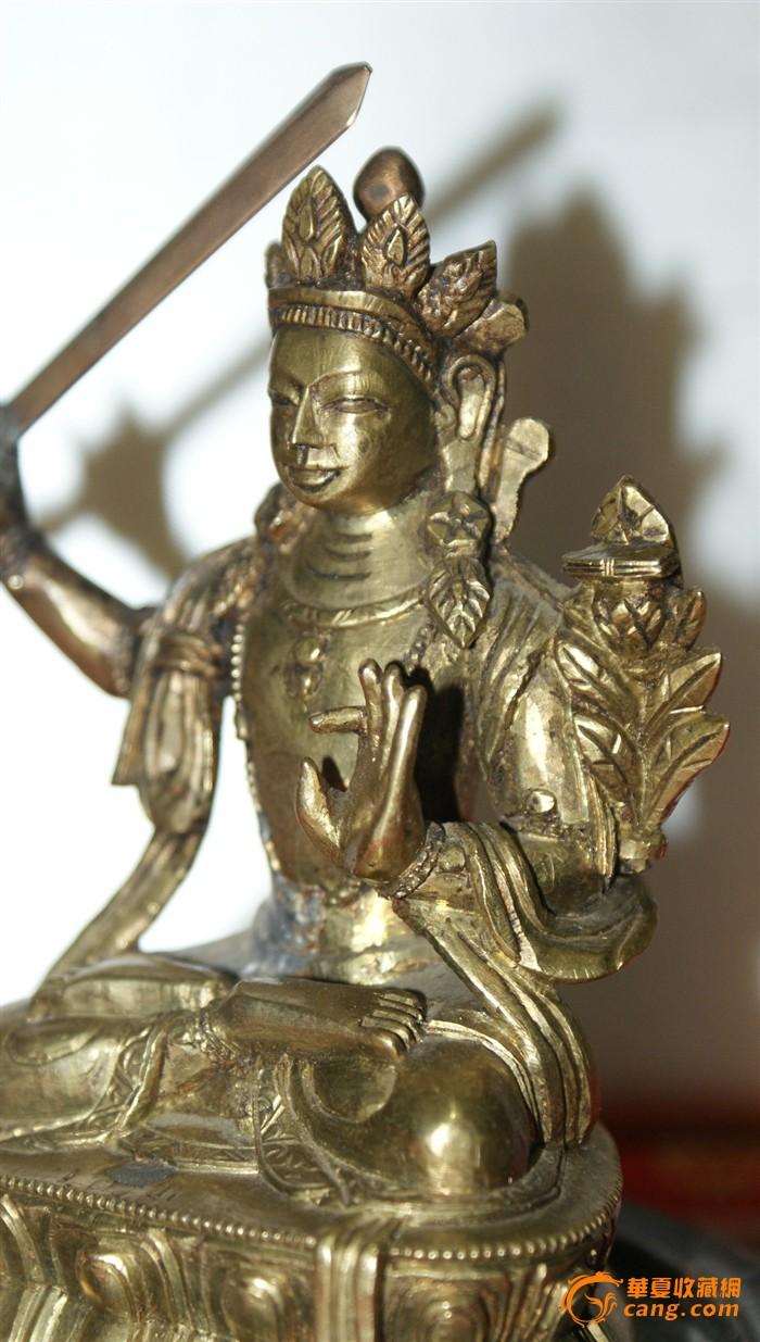 4359 清中期文珠菩萨造像图5