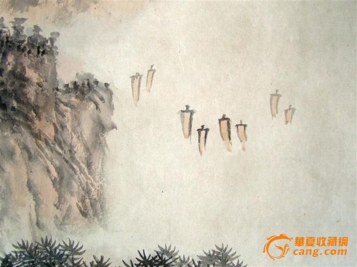 孔仲起(1982年绘山水画)《太湖絮语图》原托旧镜心.