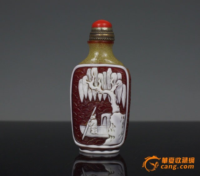 清代 套料人物故事鼻烟壶【友尚斋】-图5