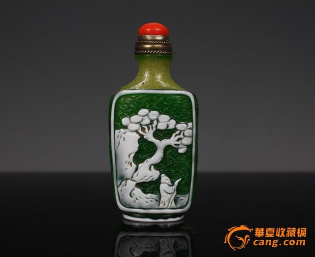 清代 套料雪花人物故事鼻烟壶【友尚斋】-图5