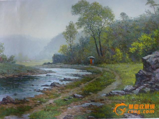 大幅风景油画步骤