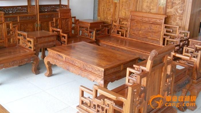 非洲花梨木沙发十件套