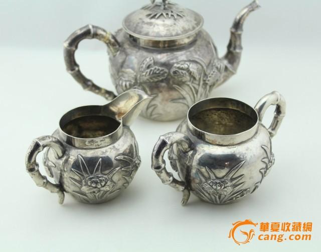 现货 海外回流 茶壶 三件套 竹子 兰花图2
