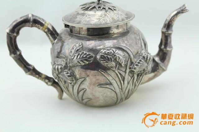 现货 海外回流 茶壶 三件套 竹子 兰花图3