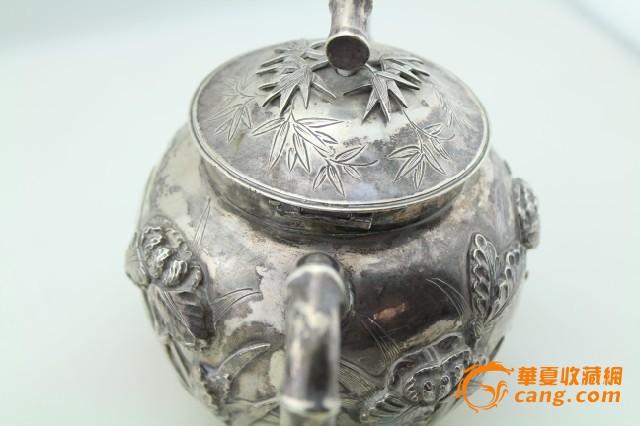 现货 海外回流 茶壶 三件套 竹子 兰花图5