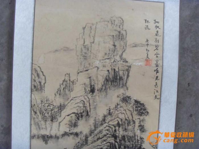 江苏著名画家 顾荣元 先生的山水画卷轴