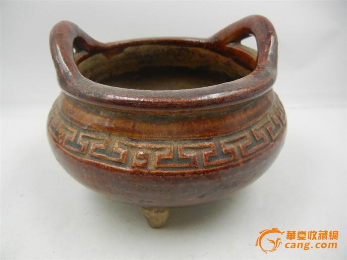 民国时期陶瓷香炉一个宽11.5厘米