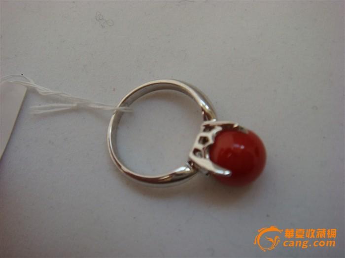阿卡珊瑚圆珠戒指(编号:002)