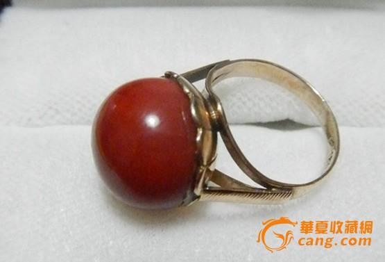 日本皇室流出阿卡圆珠珊瑚戒指(编号:017)